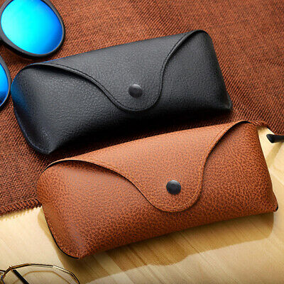 Portable Leather Hard Anti-ScratchSpectacle Case For Eyeglass Sunglasses