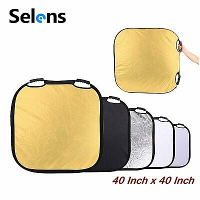 "Selens 5-in-1 100cm/39.3"" Square Reflector for Photography Photo Studio Lighting"