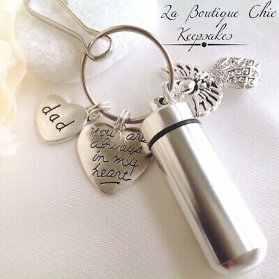 Dad Mum/Daughter/Son/BrotherSister Memorial Cremation Ashes Urn Keyring keepsake