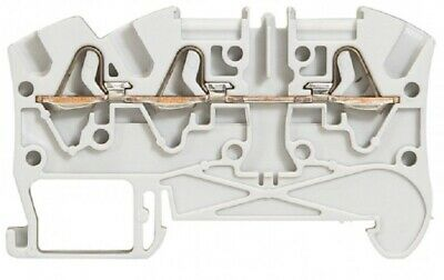 2x Legrand VIKING-3 SPRING TERMINAL BLOCKS 6mm Pitch, 3-Wires 1-Entry/2-Out GREY