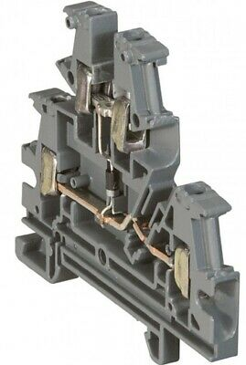 Legrand VIKING-3 SCREW TERMINAL BLOCK 6mm Pitch,2-Connect On 2-Level, Diode GREY