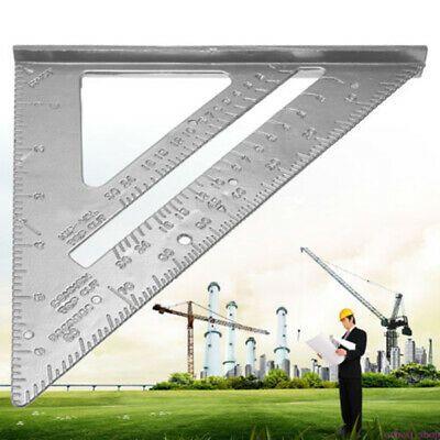Metric Aluminum Alloy Speed Square Triangle Angle Protractor Layout Guide Ruler