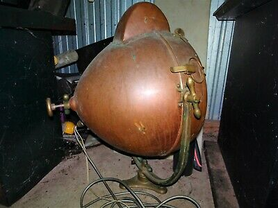 Spotlight antique . GE copper vintage floodlight