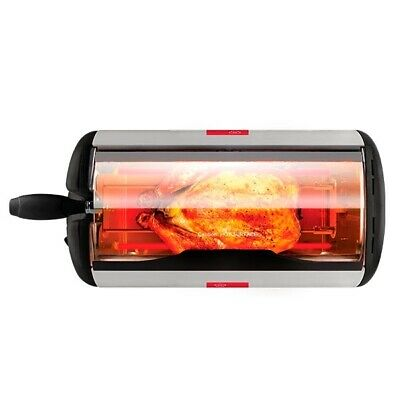 Smart Portable Rotisserie Rotating Electric Oven with Timer - 600Watts - New