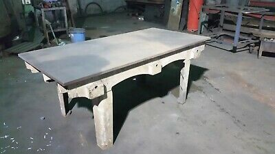 CAST IRON SURFACE TABLE 6' x 3@