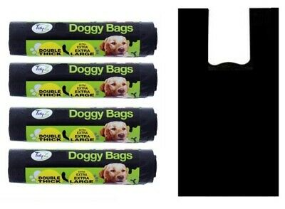 Dog Poo Bags Extra Large Double Thick Doggy Bags Dog Puppy Poop Tie Handles