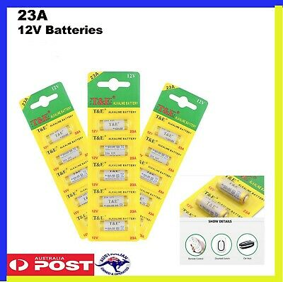 23A 21/23 A23 23A 23GA 12V Alkaline Battery for Garage Car Remote Exp 12/22