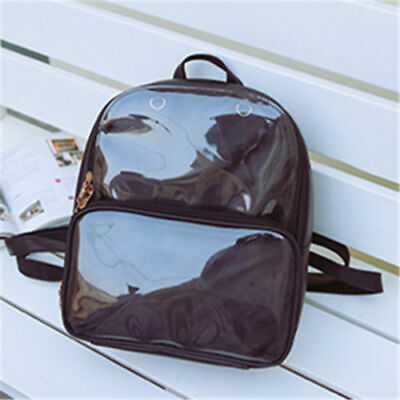 Fashion CLEAR ita bag Transparent itabag Pin Display Backpack school bags WTT