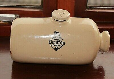 Vintage Royal Doulton Lambeth Stoneware Hot Water Bottle Bed Warmer >>>>