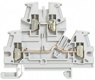 Legrand VIKING-3 SCREW TERMINAL BLOCK 6mm Pitch, 2-Connections On 2-Levels GREY