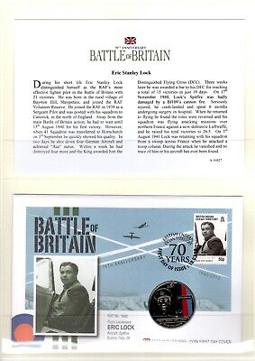 Westminster Coin Cover 70th Anniversary THE BATTLE OF BRITAIN Eric Stanley Lock