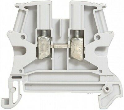 8x Legrand VIKING-3 SCREW TERMINAL BLOCKS 6mm Pitch,1-Connect 1-Entry/1-Out GREY