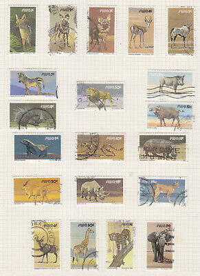 south West Africa 1980 Wildlife set fine used, will be removed from page.