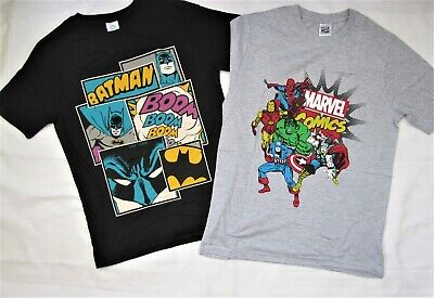 Mens T Shirts DC Comics Marvel Cotton Mens Tops Short Sleeve T Shirt S M L XL