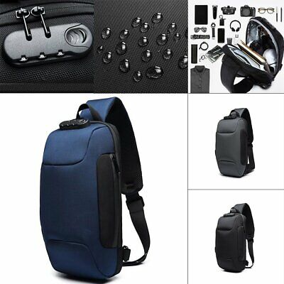 Anti-theft Backpack With 3-Digit Lock Shoulder Bag Waterproof for Phone QC