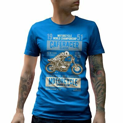 A629SB Mens Crew Neck T-Shirt Caferacer Motorcycles Classic Race Speed Born To R