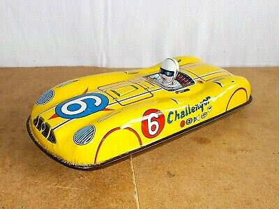 vintage tin toy - friction CHALLENGER racer race car - made japan - 60s