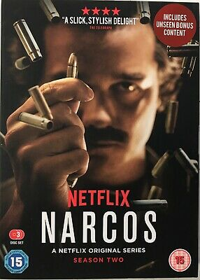 Narcos: The Complete Season Two [DVD] New Sealed Free UK P&P