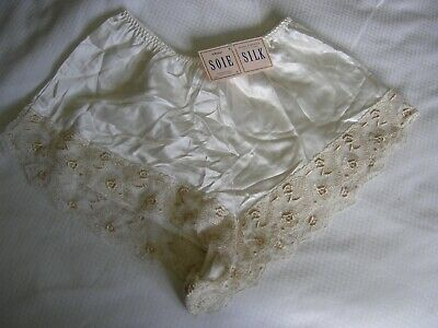 Vintage St Michael Silk French Knickers Size 14 Brand New With Tag!