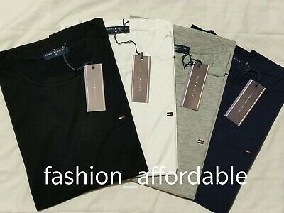 Tommy Hilfiger Mens Short Sleeve Crew Neck 100% Cotton Tshirt in 4 colors