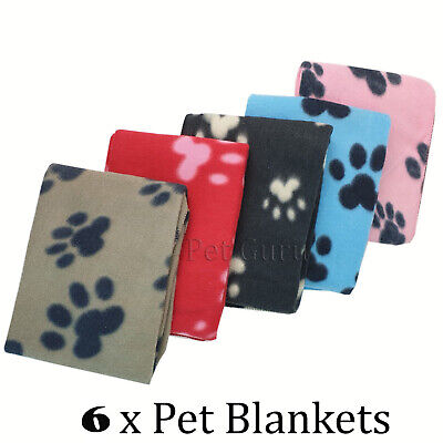 Value pack of 6 Pet Dog Cat Puppy Fleece Blankets Pet Blanket