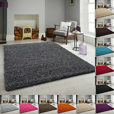 UK Small Large Thick Shaggy Rugs Runner & Round Rug Area Kitchen Mats Washable