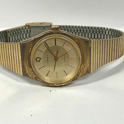Vintage TIMEX T CELL Ladies Gold Tone T-CELL Watch