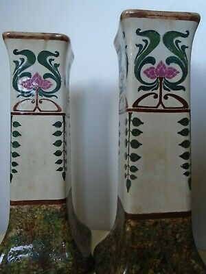 Pair Of Antique Art Nouveau Vases