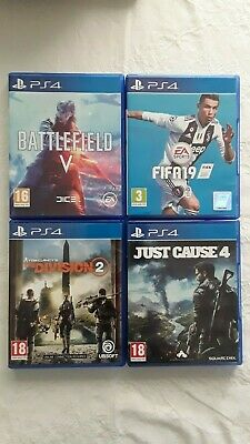 Bundle of 4 Sony Playstation 4 games inc.(FIFA 19, DIVISION 2, JUST CAUSE 4 +1)