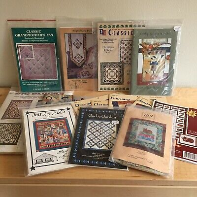 Lot of 14 Quilt Pattern Items - Assorted Patterns and Brands