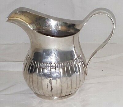 Irish silver vintage George III Georgian antique cream jug