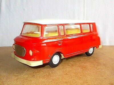 vintage plastic toy - PIKO made in gdr - friction BARKAS B 1000 van - 18cm - 70s