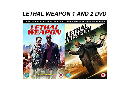 LETHAL WEAPON COMPLETE SERIES 1 & 2 DVD Season 1st and 2nd One Two New Sealed R2