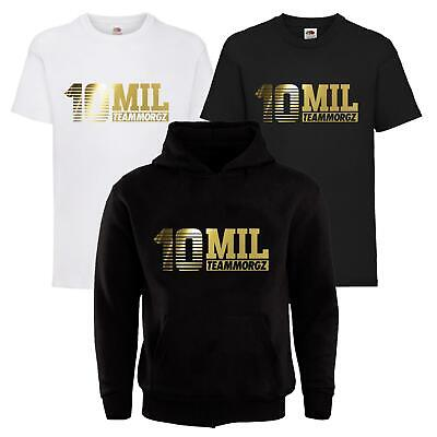 Kids 10 Mil MGZ Youtuber Pullover Hoodie T-Shirt Gaming Gamer Team Morgz Tee Top