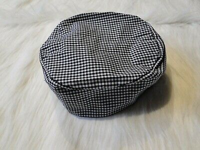 Yarn-Dyed Blk/Wht Check Chef Box Hat