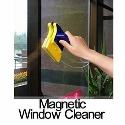 Magnetic Window Double Side Glass Wiper Cleaner Cleaning Brush Pad Scraper MR