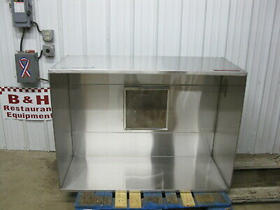 "Captive Aire 54"" x 39"" Kitchen Stainless Steel Condensate Exhaust Hood 4224 VH1"