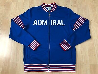 Official England Football Retro Authentics Blue Tracksuit Top Admiral Small- VGC