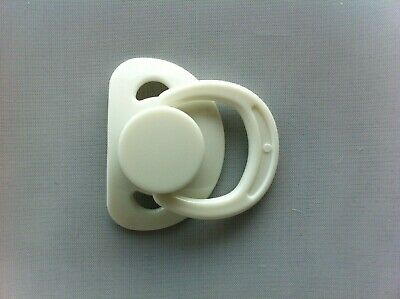 Reborn doll Magnetic Dummy/Pacifier For Reborn Baby WITH Internal Magnet WHITE