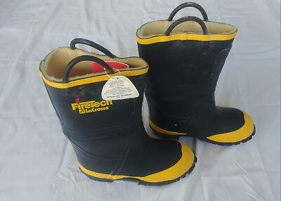 Firetech LaCrosse Firefighter Turnout Gear Boots Size 7Wide Mens PPE