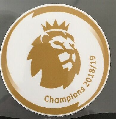 New Premier League Champions, 2019/20 Adult Size Shirt Sleeve Patches Badge.
