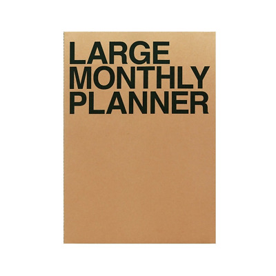 Large Personal Monthly Planner 14 Sheets Brown