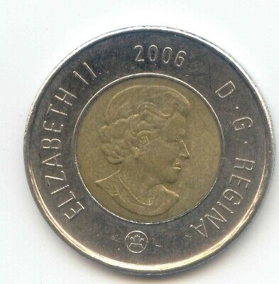 Canada 2006 TOP DATE Toonie Canadian 2 Dollar $2 Two Dollar Exact Coin Shown ~