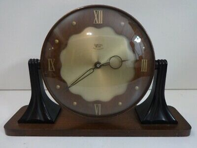 Vintage Smiths Sectric Art Deco Bakelite wood mantel clock (spares and repairs)