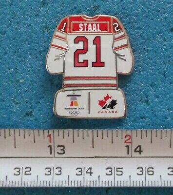 Eric Staal Olympic Vancouver 2010 Team Canada Jersey Nhl Hockey Pin # C805