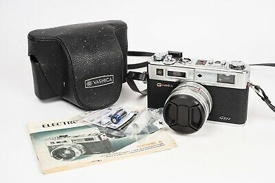 Yashica Electro 35 GSN + Yashinon DX 45MM 1:1,7 - NEW SEALS and BATTERY ADAPTER.