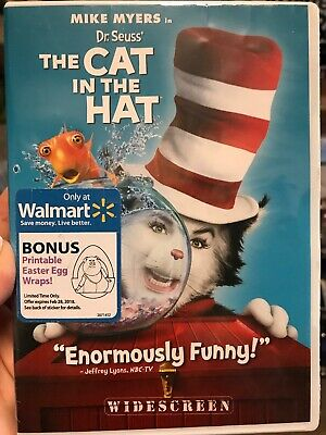 Dr. Seuss The Cat in the Hat (DVD, 2004, Widescreen)