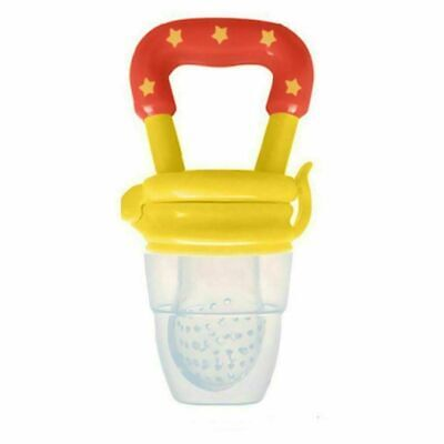 Baby Fresh Fruit Vegetable Pacifier Dummy Feeder Soother -Yellow Teat Size:Large