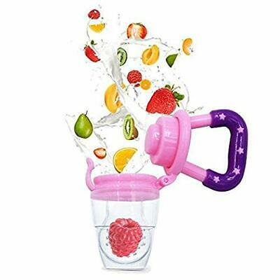 Baby Fresh Fruit Vegetable Pacifier Dummy Feeder Soother - Pink Teat Size Medium