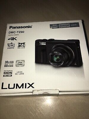 Panasonic DMC-TZ80EB-S Lumix 18.1MP 4K Superzoom Camera - Silver 729